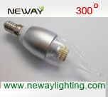 6w non dimmable clear candle ses e14 led lamp, clear glass led candle light bulbs ses e14 base 6watt