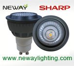 9w gu10 sharp spotlight cob, sharp cob led gu10, gu10 sharp cob led spot light, gu10 sharp cob led